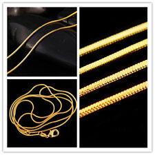 Gold Plated Elegant Lots Chain 2016 Necklace Fashion Snake Wholesale 16-30 inch