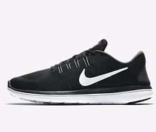 Nike FLYWIRE FLEX 2017 RN MEN'S RUNNING SHOES,BLACK/WHITE- US 10.5,11,11.5 Or 12
