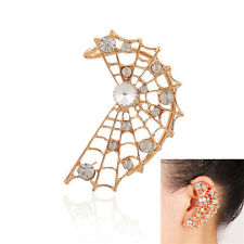 1Pcs Spider Wrap Halloween Earring Punk Pierced Stud Crystal Ear Clip Cuff