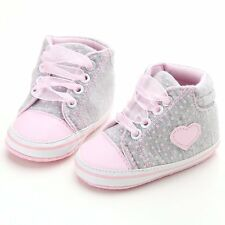 Baby First Walkers Lace Up  Toddler Sneakers Boy Girl Soft Walker Shoes