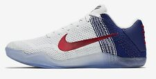 Nike ZOOM KOBE XI ELITE MEN'S BASKETBALL SHOES,WHITE/BLUE/RED- US 7,7.5,8 Or 8.5