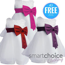 New Girls & Babies White Dress Special Occasion, Weddings, Parties