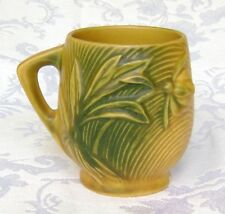 ROSEVILLE POTTERY YELLOW PEONY MUG CUP 2-3 1/2