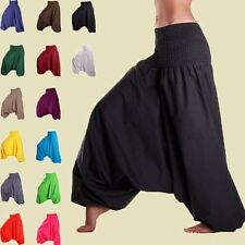 Men & Women Harem Pants Baggy Yoga Afghani Genie Aladdin Indian Cotton Trouser