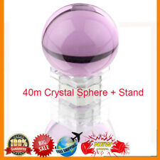 Crystal Ball Sphere Glass Ball with Wooden Stand & Gift Box 80mm BS
