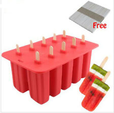 Food Grade Silicone Popsicle Mold Ice Cream Tray Summer Cool Ice Popsicle Mold