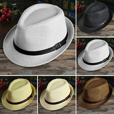 Unisex Summer Beach Hat Sun Jazz Panama Tropical Cap Straw Hat Cosplay Show Hat