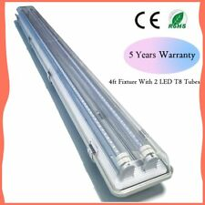 4 Foot 36W 6000K Garage Shop Light Fixture With 2 x 18W LED T8 Included, Troffer