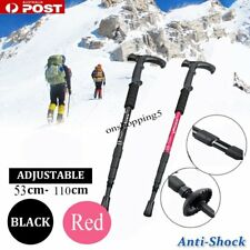 Retractable Anti Shock Walking Sticks Telescopic Trekking Hiking Poles Canes BU