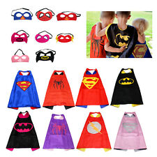 Children Superhero Comic Book Hero Cape Mask Kids Costume Fancy Dress Outfit Hot