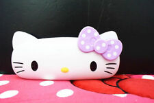 New  Bow Cute dot HelloKitty Hard Shell Glasses Eyeglass/pencil Case Box lyo-P54