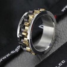 ORSA JEWELS Unique Design Men Ring Moveable Gear 316L Stainless Steel Charming R