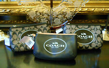 "Genuine COACH Leather Logo or Carriage 5""x7"" Med Wristlet Clutch or Make Up Bag"