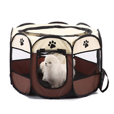 Pet Foldable Fabric Playpen Dog Cat Puppy Rabbit Kennel Run Cage Fence Tent S M