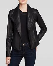NWT Vince $995 Scuba Leather Jacket Black Goat Skin Must Have Authentic XXS to L