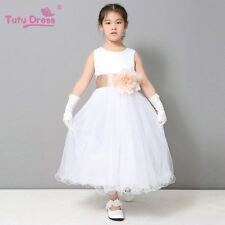 Flower Girl Petals Dress Children Bridesmaid Toddler Elegant Dress Pageant Weddi