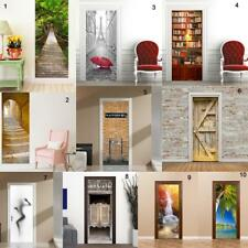 Removable Self Adhesive Door Sticker Wall Sticker Wrap Mural Decal Decor