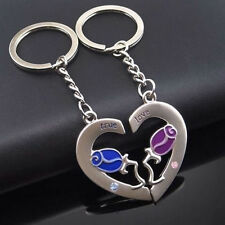 Lot 2PCS Couples Key Ring Set for Lovers Key Chain Keychain Keyfob Superb Well
