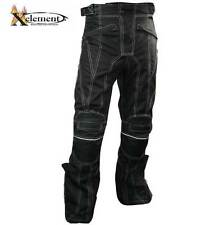 Xelement Black Tri-Tex White Stitched Fabric Motorcycle Pants 34 36 38 40 42