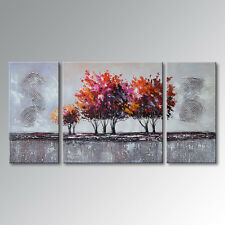 Hand-pained Landscape Tree Oil Painting Canvas Wall Art Decoration (with frames)