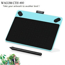 WACOM CTH-490 Intuos Pen Touch Graphics Tablet + Extra 10 x Spare Pen Nibs BLUE