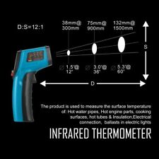 Non-Contact LCD IR Laser Digital Temperature Meter Sensor Infrared Thermometer E