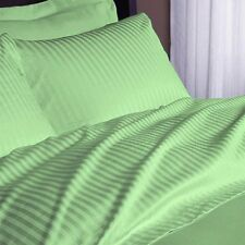 Combo Offer Bedding Sets 1000TC Egyptian Cotton UK-Sizes Sage Striped