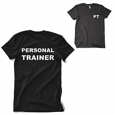 PERSONAL TRAINER T Shirt Gym Wear Training Fitness Top MMA Mens Womens S-2XL NEW