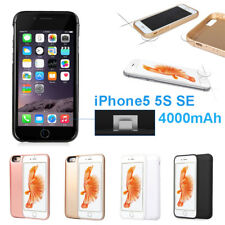 4000mAh External power bank Charger pack backup battery case for iphone 5 5S SE