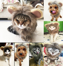 Pet Dog Cat Hat Puppy Costume Lion Mane Wigs Halloween Party Dress Up With Ears