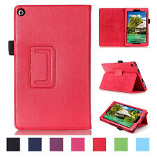 Fashion Shockproof PU Leather Folio Case Cover Stand For Amazon Kindle Fire HD 8