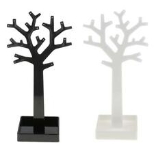 Acrylic Earrings Ring Holder Rack Tree Jewelry Display Stand Shelf Organizer