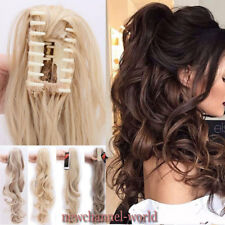 2017 Jaw Ponytail Clip in Hair Extension Claw Pony tail clip on Hairpiece Curly