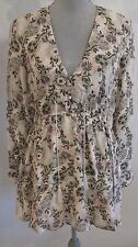 NEW FREE PEOPLE XS,S,M & L IVORY COMBO FLORAL BOHO TUNIC TOP/DRESS MSRP $128.00