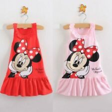 Baby Girls Minnie Mouse Dress Kids Cartoon Tops Clothes Party Dresses