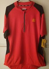 Mens Trayl 1/4 Zip MTB Mountain Bike Race Cycling Chinese Red Jersey Size-M-XL
