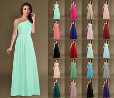 New Chiffon One Shoulder Evening Formal Party Ball Gown Prom Bridesmaid Dress