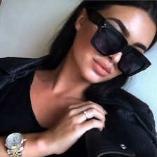FLAT TOP OVERSIZED SQUARE SUNGLASSES THICK FRAME RETRO WOMEN FASHION SHADES 2017