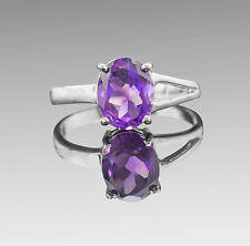 925 Sterling Silver Ring with Natural Purple Amethyst Gemstone Handmade eBay.