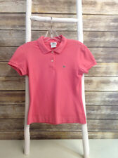 Lacoste Size SIZE 6 Coral Pink Knit Polo Shirt