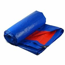 Heavy Duty Blue Waterproof Poly Tarp , Camping, Shelter, Shade, Ground Cover - U