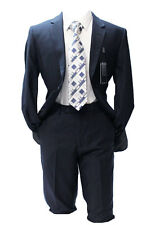 Angelo Rossi by Giorgio Cosani Navy Blue Modern Fit Suit Mens Suits