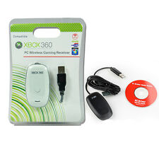 PC Game Gaming Controller USB Receiver Adapter for Microsoft XBOX 360 with CD