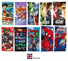 Official DISNEY MARVEL CHARACTER TOWELS Cotton Pool Beach Kids Boys Girls Gift