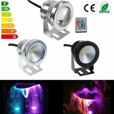 10W Underwater LED Flood Wash Pool Waterproof Light Spot Lamp 12V Outdoor 1.2M