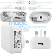 OFFICIAL GENUINE HUAWEI MAINS CHARGER ADAPTER WITH MICRO / TYPE C USB DATA CABLE
