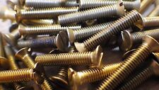 "4BA x 1"" SOLID BRASS SLOTTED COUNTERSUNK HEAD BA MACHINE SCREWS MODEL STEAM"