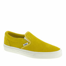 NIB Designer VANS for J.CREW Collection Suede LEATHER Shoes Fuchsia Green