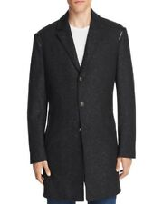 NEW $698 JOHN VARVATOS STAR USA LUXE BLACK SPECKLED WOOL BLEND W LEATHER TRIM