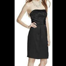 DAVIDS BRIDAL Charmeuse Dress with Ruched Waist and Pocket- Size 4 Style 83707